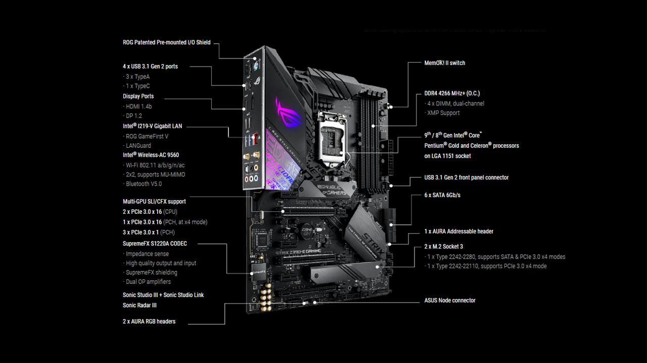 Asus Rog Strix Z390 E Gaming